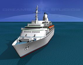 Cruise Ship Pacific Princess 3D model