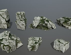 rock set 3D model realtime mount