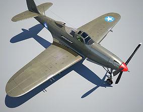 3D asset game-ready Bell P-39 Airacobra