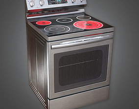 3D model KTC - Kitchen Stove - PBR Game Ready