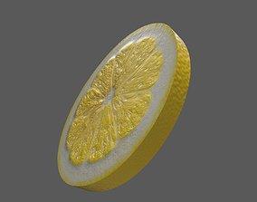3D asset Lemon Thin Slice