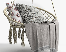 BUTLERS PARADISE NOW Hammock chair with fringes 3D
