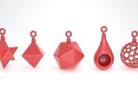 3D print model Various shapes christmas decoration