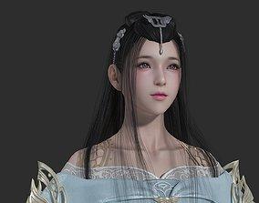 Chinese beauty Woman Female pretty girl lady 3D model