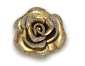 flower rose print model