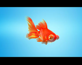 3D model Goldfish Full RIGGED ANIMATED