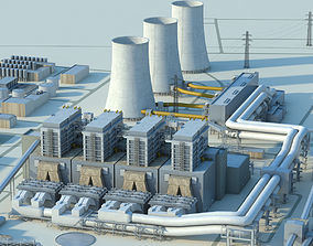 3D model Power plant building