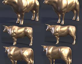 printable bull 3d model