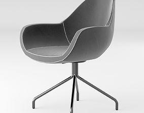 Black fabrick office chair 3D model