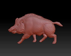 Pig statue panel internal or external decor 3D print model