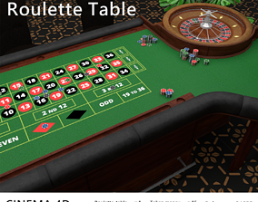 3D model VR / AR ready Casino Roulette Table la