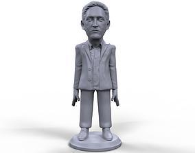 Edward Snowden stylized high quality 3D printable