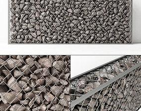3D model Gabion rock stone