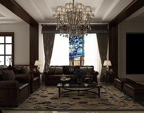 3D Modern home interior sectional