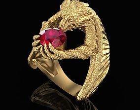 Ring Beast Gem 3D print model