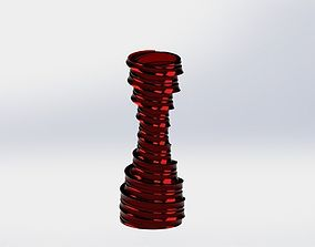 3D printable model tornado vase