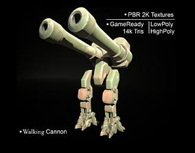 3D asset Walking Cannon