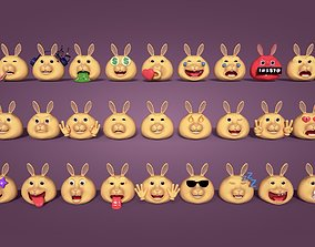 3D model Rabbit Smiley Collection
