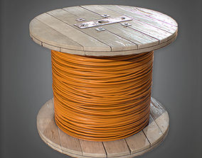 Cable Reel - PBR Game Ready 3D Model PBR