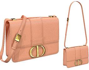 3D Dior 30 Montaigne Bag Rose Leather