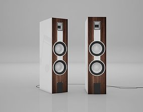 Surrounded Speaker System Low-poly 3D
