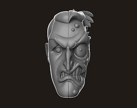 3D print model Two Face Head