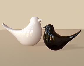 3D asset Modern birds figurine