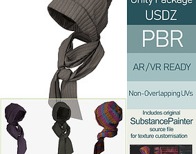 3D model Knit Cap and Scarf