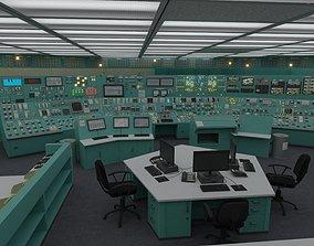 energy Nuclear Power Plant Control Room 3D model