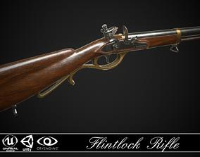 Flintlock Rifle 01 Classic 3D model