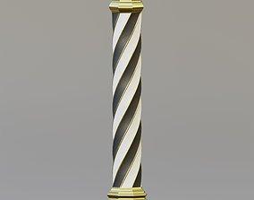 3D asset Twisted column