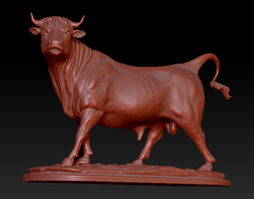 bull statue 3D print model
