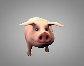 3D model animated Pig or Porky
