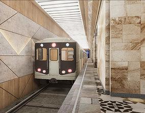 3D asset Subway Station 04
