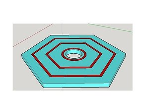 3D print model glass mount