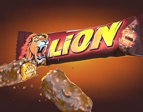 Lion chocolate bar photoscan 3D asset
