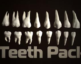 Teeth Pack 3D asset VR / AR ready