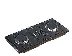 3D model DJ Turntable Mixer