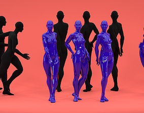 3D asset 13 piece female Fashion Mannequin bundle