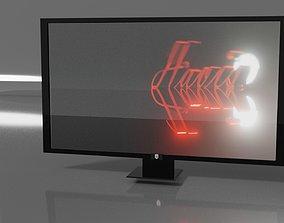Digital working TV 3d model VR / AR ready