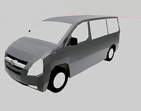 Van model low poly realtime