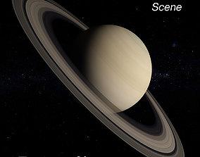 Saturn Scene 3D model