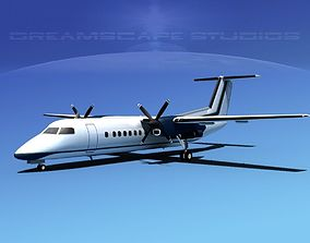 DeHavilland DHC-8-Q300 Corporate 1 3D model