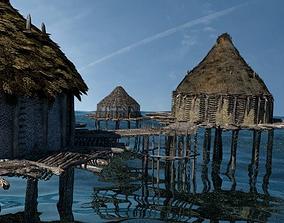 Prehistoric Settlement - Neolithic Crannog 3D