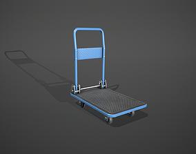 3D model Folding Platform Truck Trolley - Blue