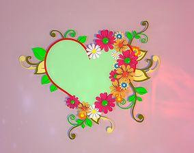 Blossom Heart - Sign 3D model