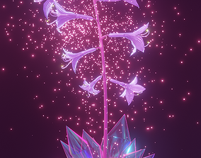 3D asset magical flower