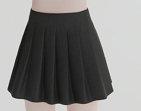 Skirt short pleated 3D model