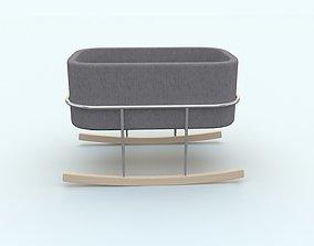 Bassinet Rockwell Baby Bed 3D model