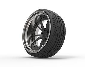 3D model Wheel for Stance car
